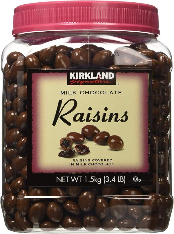 raisin sec couverture de chocolat