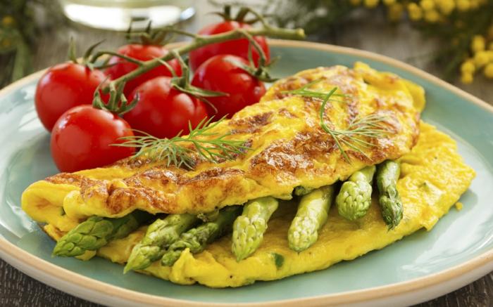 recette omelette aux asperges idée