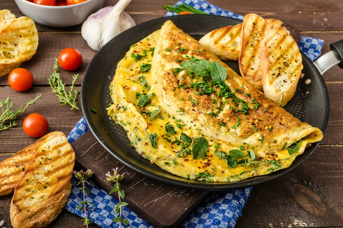 recette omelette aux herbes