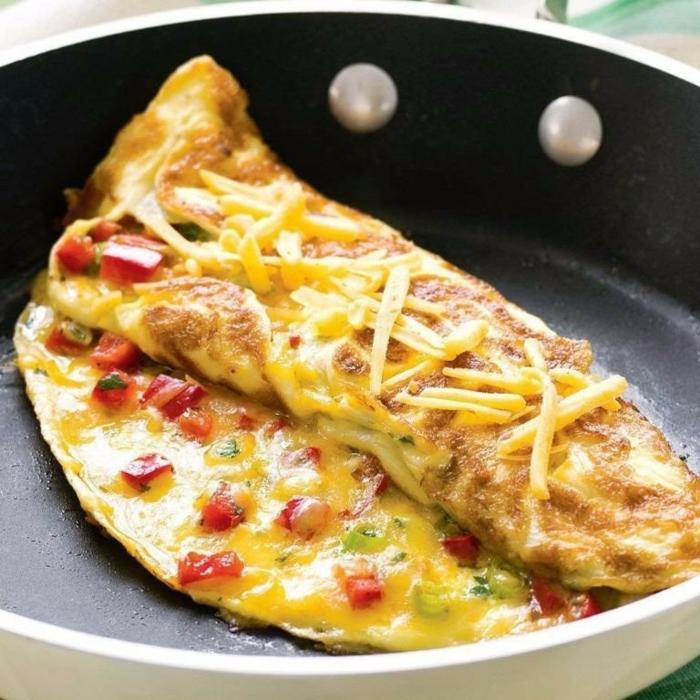 recette omelette aux poivroins rouges