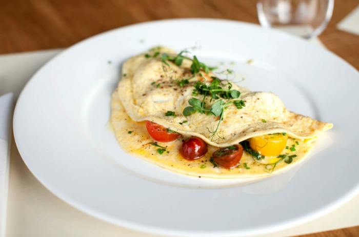 recette omelette aux tomates