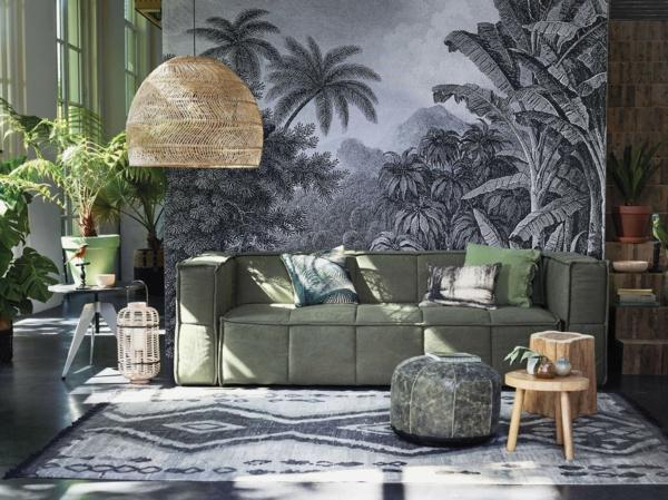 salon design déco jungle urbaine