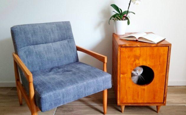 fabriquer soi-même meuble cache litière