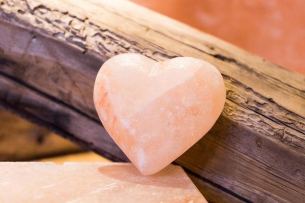sel rose d'Himalaya coeur en sel