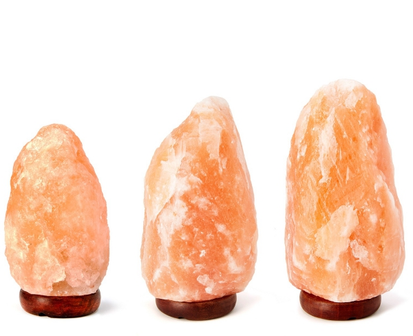 sel rose d'Himalaya lampes de sel