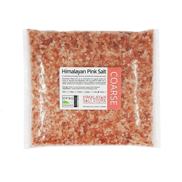 sel rose d'Himalaya un paquet de sel