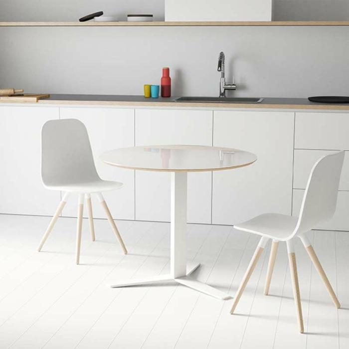 table salle à manger ronde ceramique metal peliccan