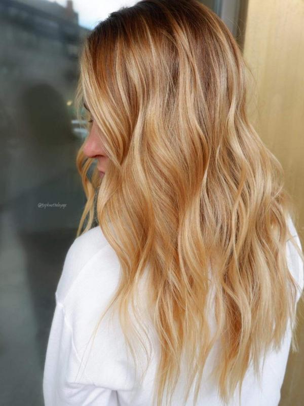 tendance couleur cheveux printemps 2019 blond miel