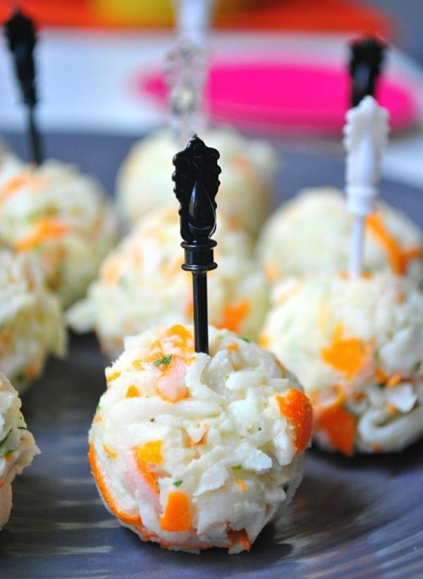 Brochette apéro - 70 idées de recettes qui mettent de l'eau à la bouche croquettes de surimi