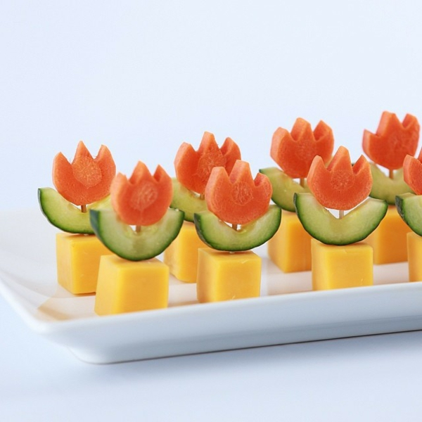Brochette apéro - 70 idées de recettes qui mettent de l'eau à la bouche fromage carotte concombre