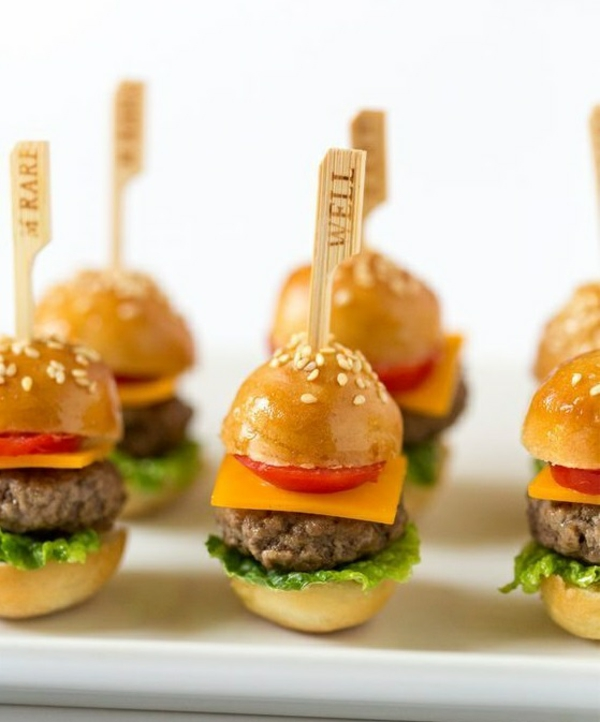 Brochette apéro - 70 idées de recettes qui mettent de l'eau à la bouche mini hamburgers