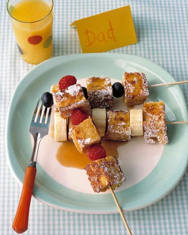 Brochette apéro - 70 idées de recettes qui mettent de l'eau à la bouche pain doré banane farmboises