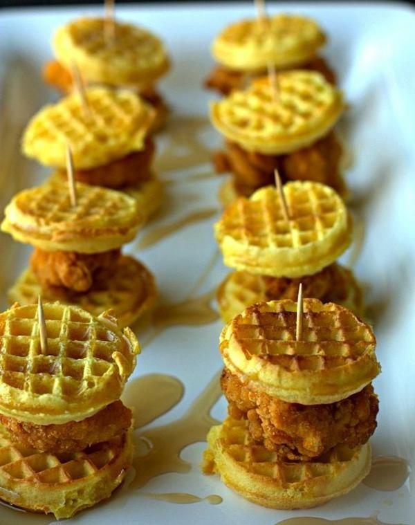 Brochette apéro - 70 idées de recettes qui mettent de l'eau à la bouche poulet frit gaufres