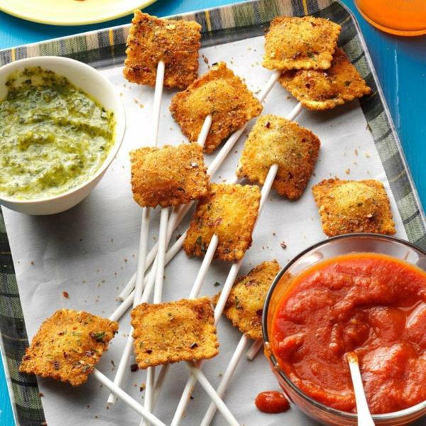 Brochette apéro - 70 idées de recettes qui mettent de l'eau à la bouche ravioli frits
