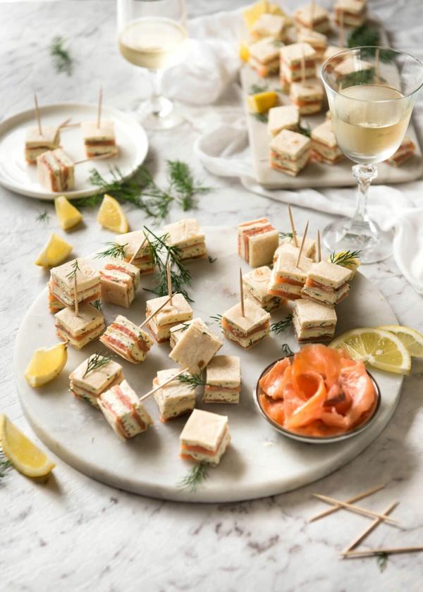 Brochette apéro - 70 idées de recettes qui mettent de l'eau à la bouche saumon fumé pain