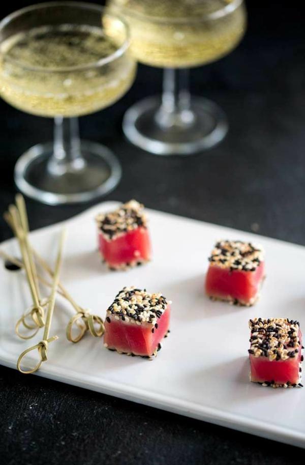 Brochette apéro - 70 idées de recettes qui mettent de l'eau à la bouche thon sésame