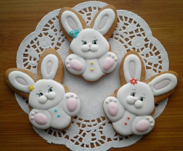 Pâtisserie lapin de Pâques - recettes faciles et beaucoup d'idées biscuits forme de lapin de pâques