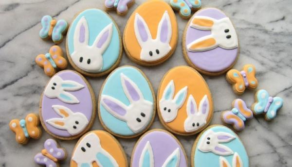 Pâtisserie lapin de Pâques - recettes faciles et beaucoup d'idées biscuits glaçage lapin de pâques