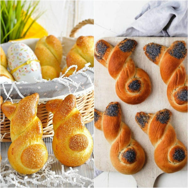 Pâtisserie lapin de Pâques - recettes faciles et beaucoup d'idées brioche pâte tressée