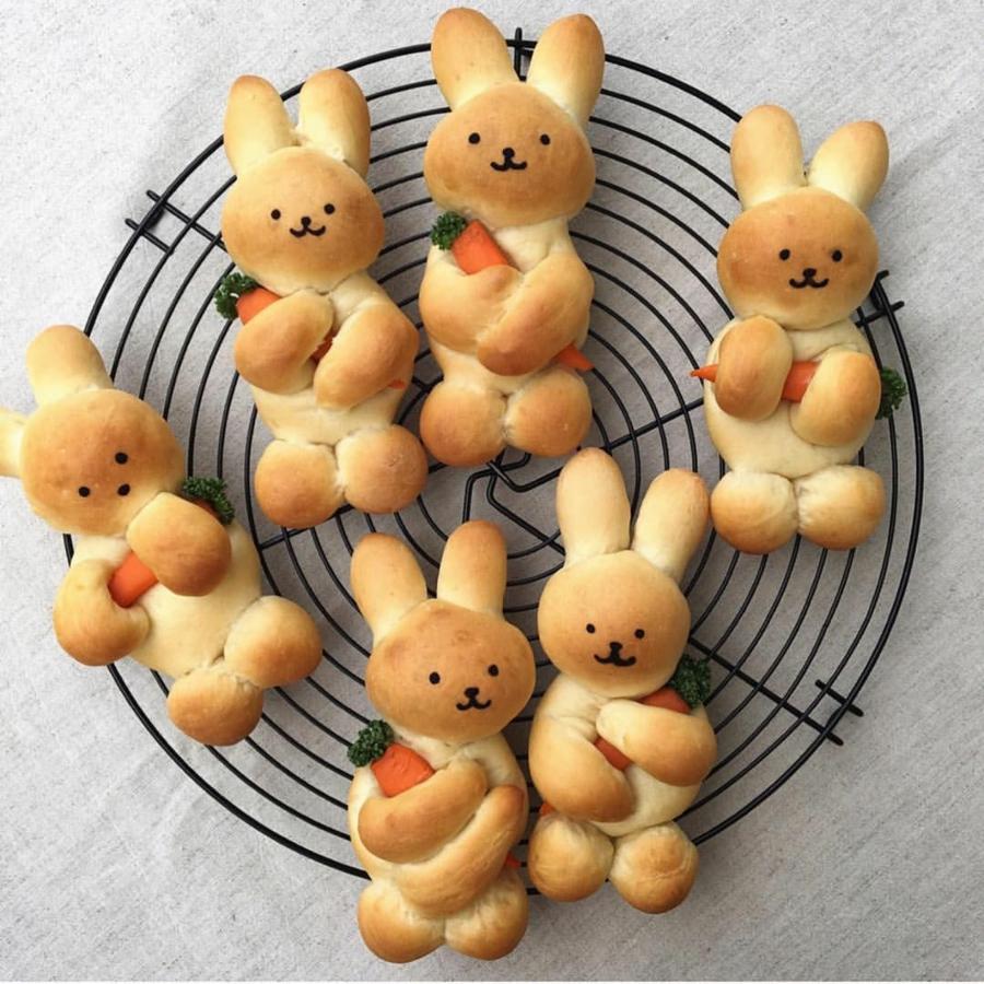 Pâtisserie lapin de Pâques - recettes faciles et beaucoup d'idées brioches pâte tressée lapins de pâques