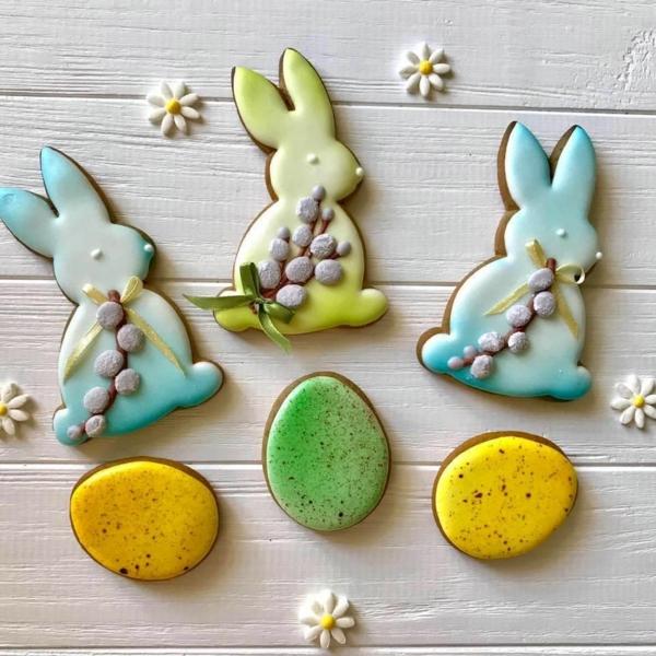 Pâtisserie lapin de Pâques - recettes faciles et beaucoup d'idées diy biscuit lapin de pâques avec glaçage