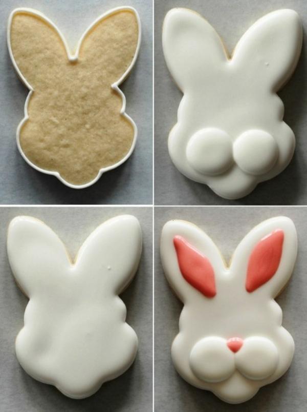 Pâtisserie lapin de Pâques - recettes faciles et beaucoup d'idées diy biscuits lapins en moules