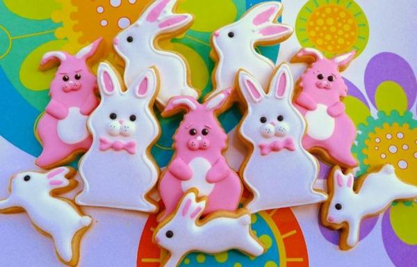 Pâtisserie lapin de Pâques - recettes faciles et beaucoup d'idées diy dessert anniversaire biscuits lapins
