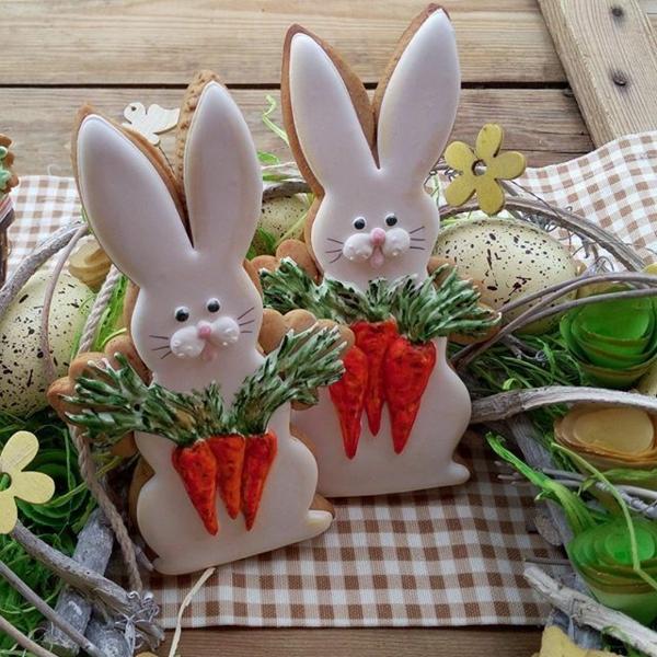 Pâtisserie lapin de Pâques - recettes faciles et beaucoup d'idées diy lapins de pâques biscuits aux épices