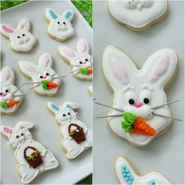 Pâtisserie lapin de Pâques - recettes faciles et beaucoup d'idées diy recette biscuit lapin de pâques avec moustaches