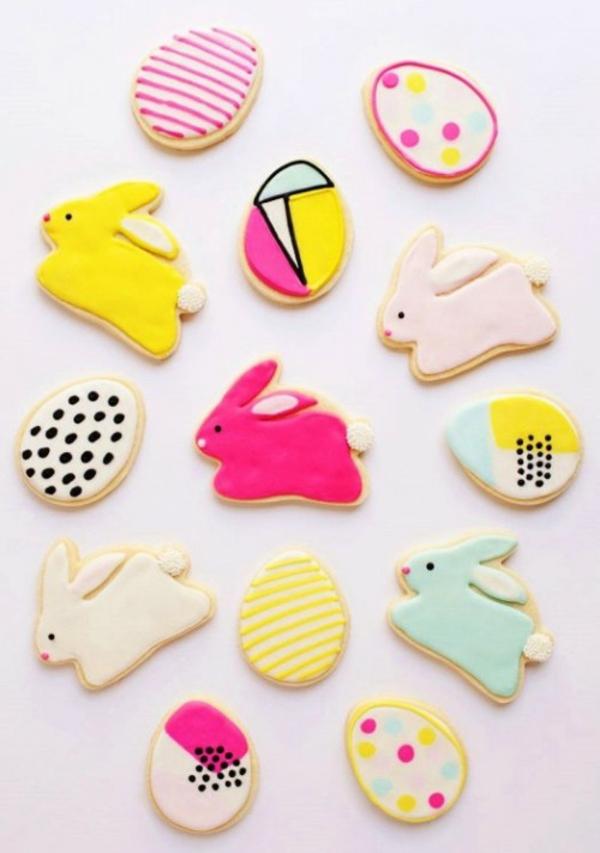 Pâtisserie lapin de Pâques - recettes faciles et beaucoup d'idées diy recette lapin coloré biscuit