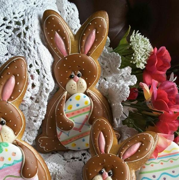 Pâtisserie lapin de Pâques - recettes faciles et beaucoup d'idées idée biscuit lapin glaçage chocolat