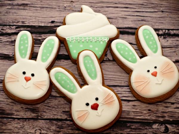 Pâtisserie lapin de Pâques - recettes faciles et beaucoup d'idées idée gâteau de pâques lapins biscuits