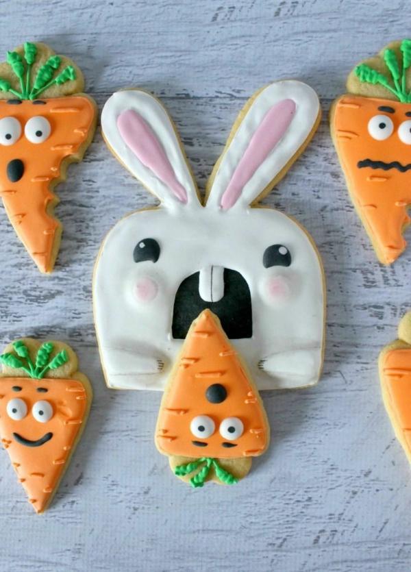Pâtisserie lapin de Pâques - recettes faciles et beaucoup d'idées lapin de pâques sous forme de biscuit glaçage