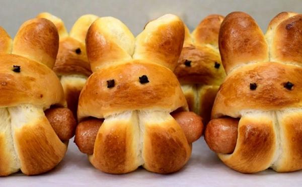 Pâtisserie lapin de Pâques - recettes faciles et beaucoup d'idées lapin pâte tressée avec glaçage sucré