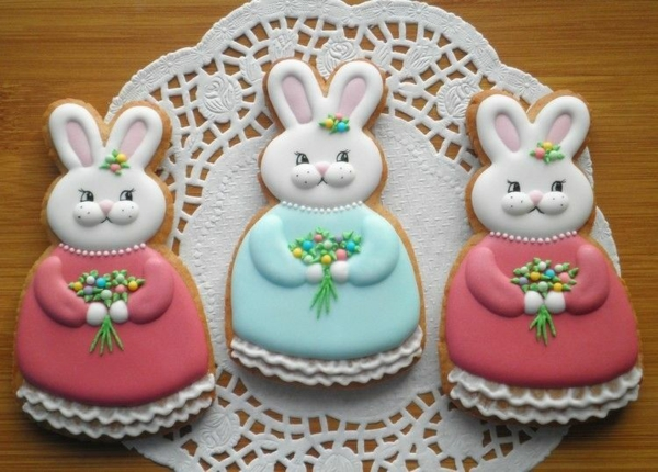 Pâtisserie lapin de Pâques - recettes faciles et beaucoup d'idées préparer des biscuits lapins