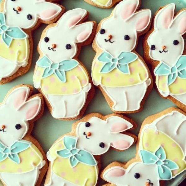 Pâtisserie lapin de Pâques - recettes faciles et beaucoup d'idées préparer soi-même biscuits de pâques lapins