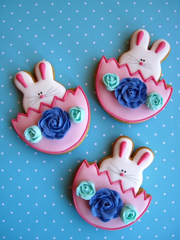 Pâtisserie lapin de Pâques - recettes faciles et beaucoup d'idées recette biscuits lapins glaçage déco pâte à sucre