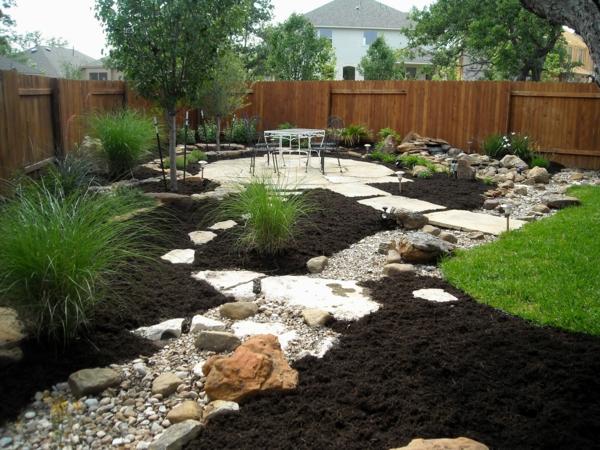 Rivière sèche à créer soi-même dans le jardin type allée de jardin