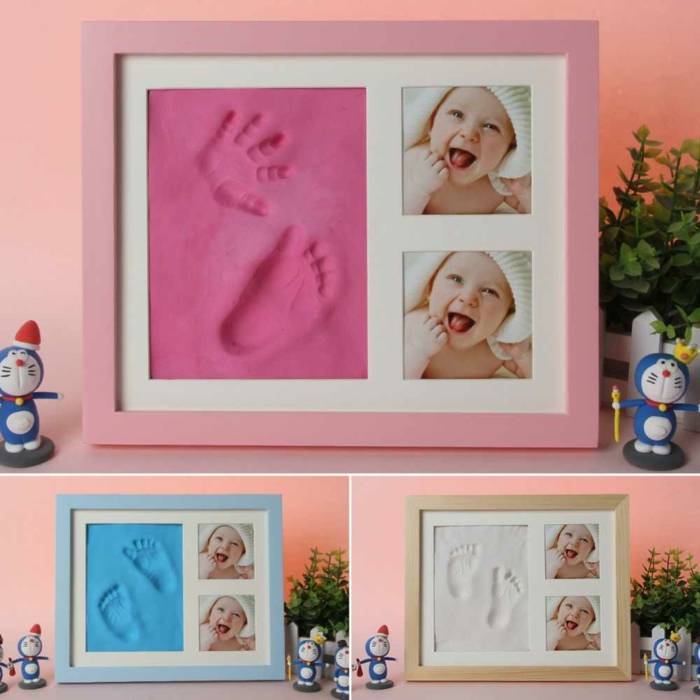 cadeau de naissance original cadre empreinte bébé