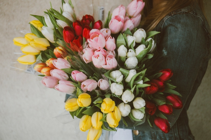 cadeau femme bouquet de tulipes