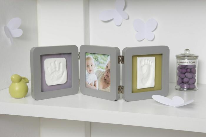 cadre empreinte bébé cadeau de naissance original