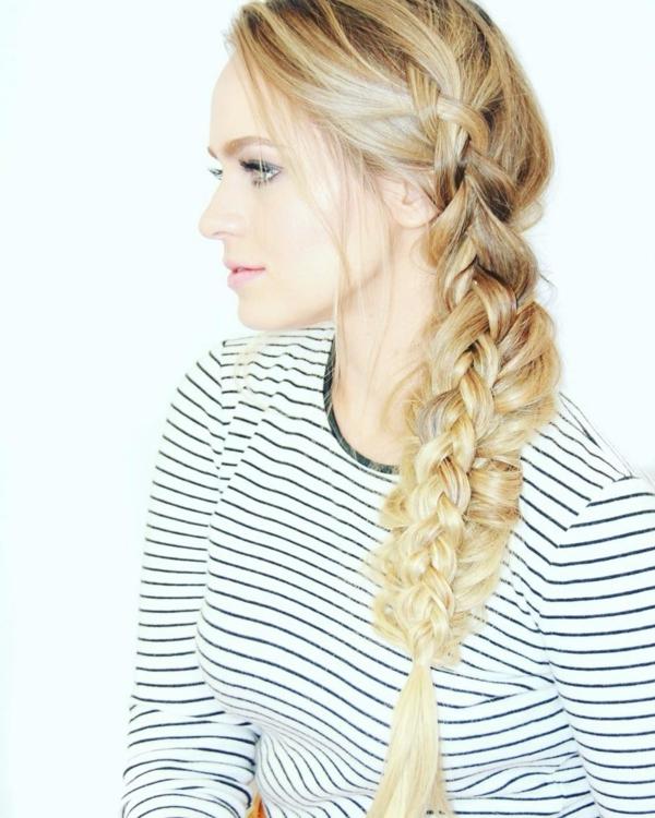 coiffure mariage tresse à deux brins et tresse néerlandaise