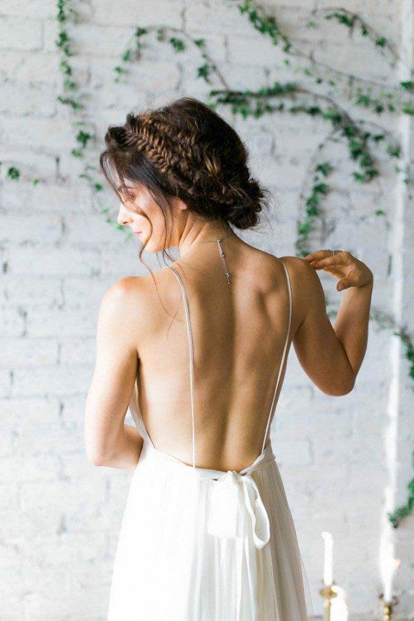 coiffure mariage tresse cheveux demi-longs trois tresses couronnes