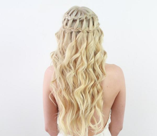 coiffure mariage tresse cheveux longs deux tresses
