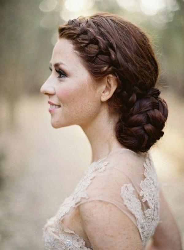 coiffure mariage tresse chignon bas