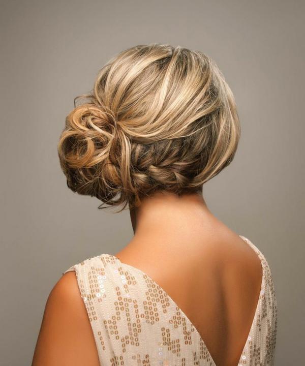 coiffure mariage tresse chignon latéral