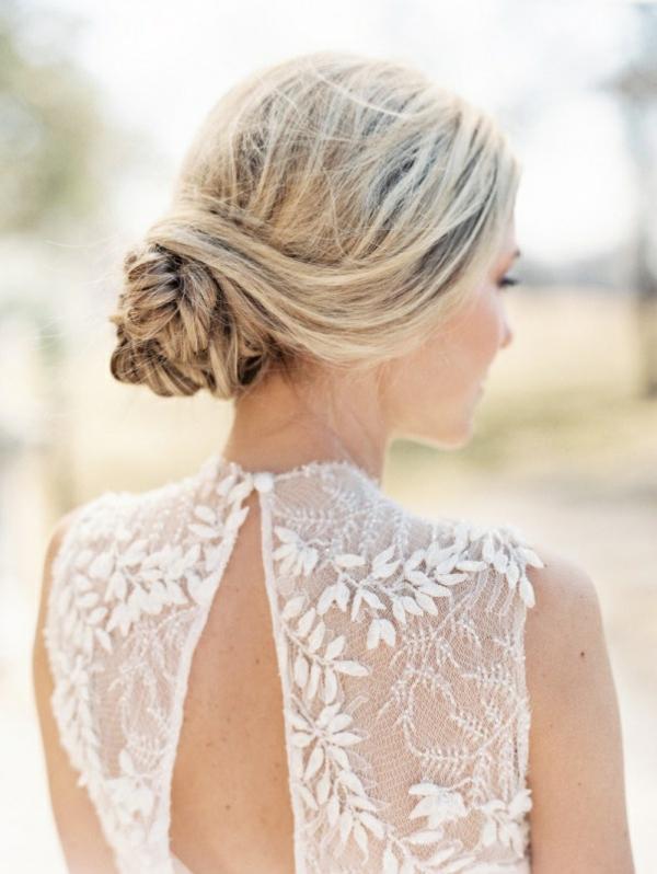 coiffure mariage tresse chignon