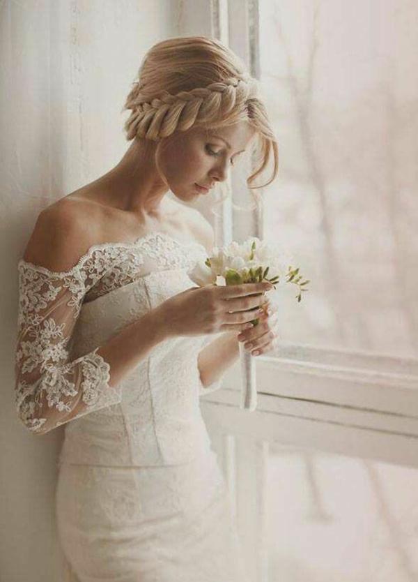 coiffure mariage tresse couronne épaisse