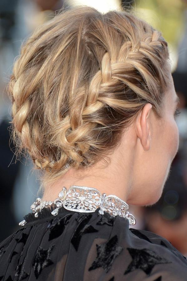 coiffure mariage tresse couronne Sienna Miller