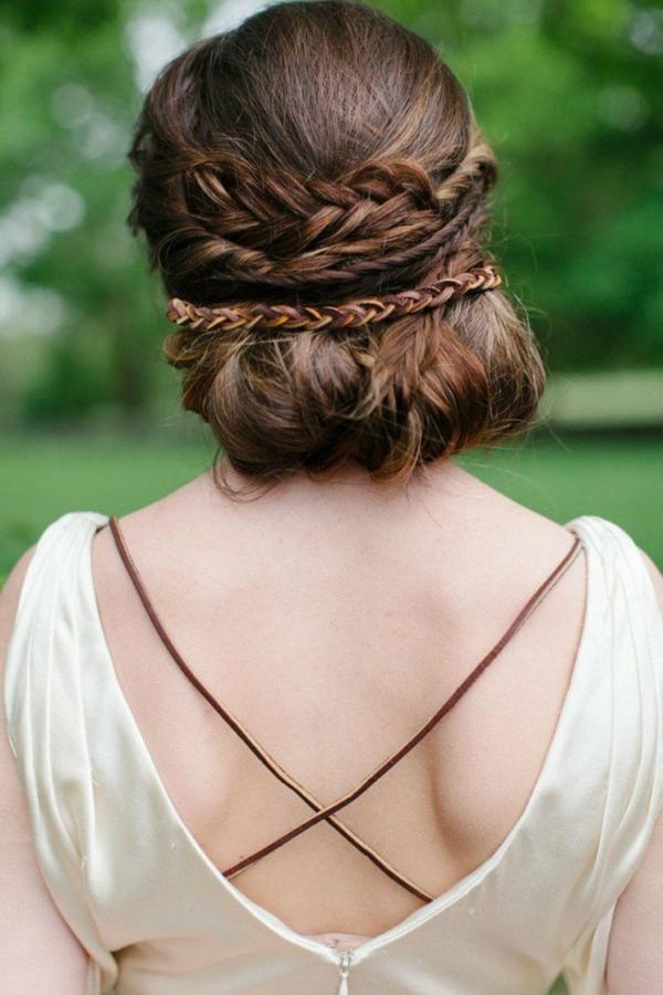 coiffure mariage tresse couronne en différentes variations